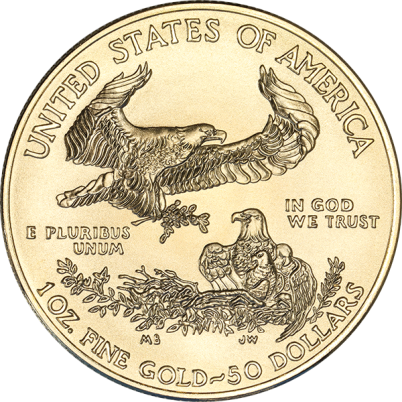 1 oz American Gold Eagle Reverse