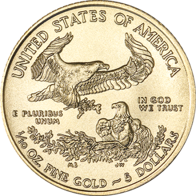 1/10 oz American Gold Eagle Reverse