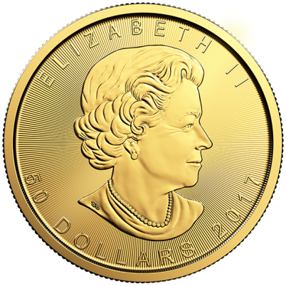 1 oz Canadian Gold Maple Leaf Reverse