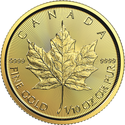 1/10 oz Canadian Gold Maple Leaf