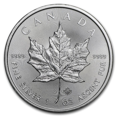 2019 1 oz Canadian Silver Maple Leaf Obverse