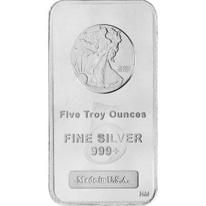 5 oz Walking Liberty Silver Bar