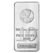 10 oz Walking Liberty Silver Bar