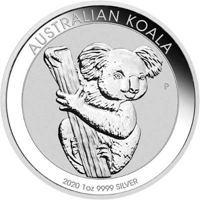 2019 1 oz Australian Silver Koala Obverse