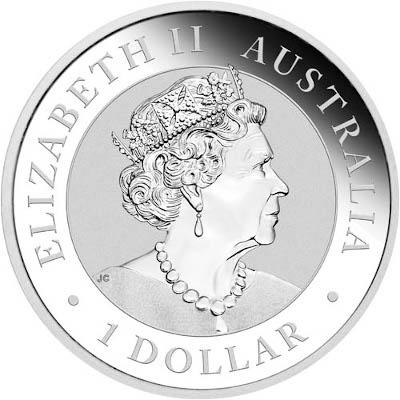 2019 1 oz Australian Silver Koala Reverse