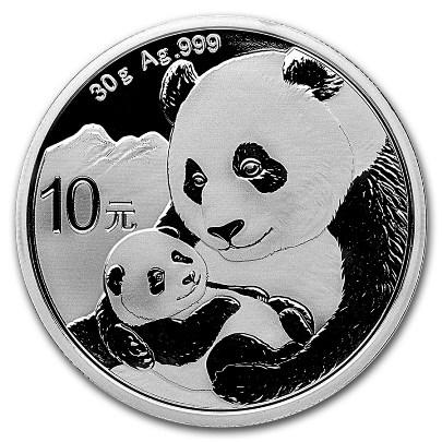 2019 30 Gram Chinese Silver Panda Obverse