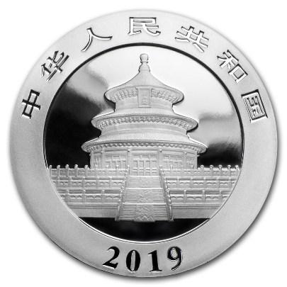 2019 30 Gram Chinese Silver Panda Reverse