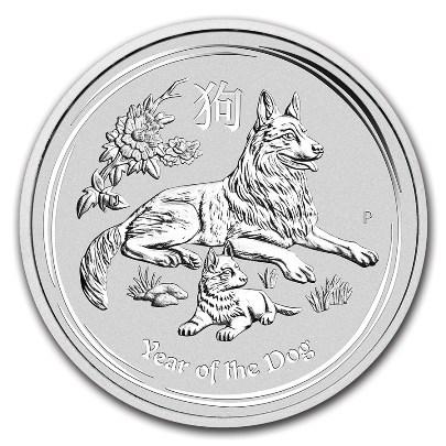 2018 1 oz Australian Lunar Silver Dog