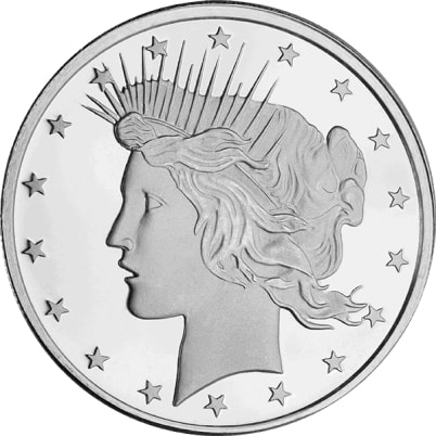 1 oz Peace Dollar Silver Round