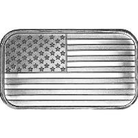 1 oz American Flag Silver Bar