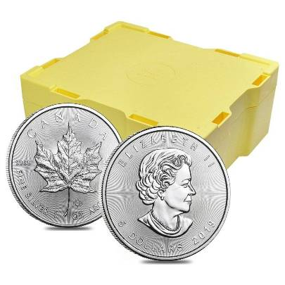 2018 500 oz Canadian Silver Maple Leaf Monster Box