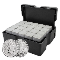 2017 500 oz British Silver Britannia Monster Box