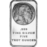 5 oz Buffalo Silver Bar