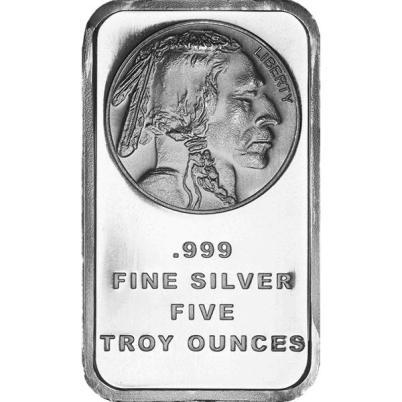 5 oz Buffalo Silver Bar