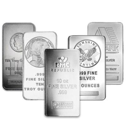 10 oz Secondary Market Silver Bars (100 oz Min.)