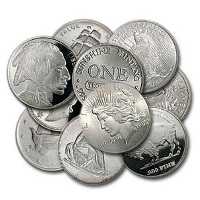 1 oz Secondary Market Silver Rounds (100 oz Min.)