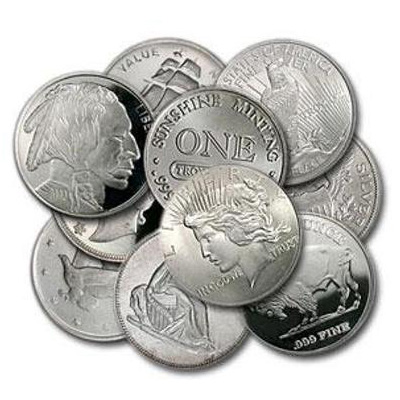 1 oz Secondary Market Silver Rounds (20 Cnt Tube)