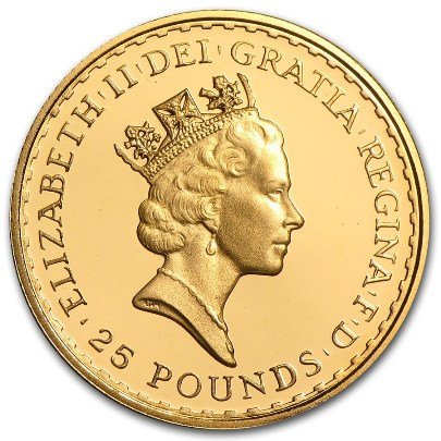 1 oz British Gold Britannia (Random Year) Reverse