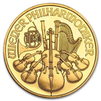 1 oz Austrian Gold Philharmonic (Random Year)