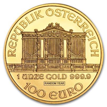 1 oz Austrian Gold Philharmonic (Random Year) Reverse