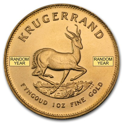 1 oz South African Gold Krugerrand (Random Year)