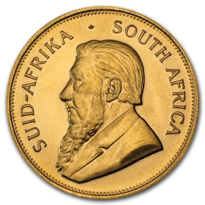 1 oz South African Gold Krugerrand (Random Year) Reverse