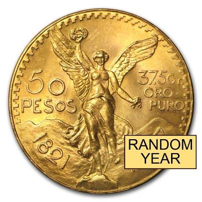 1.205 oz Mexican $50 Gold Peso (Random Year)