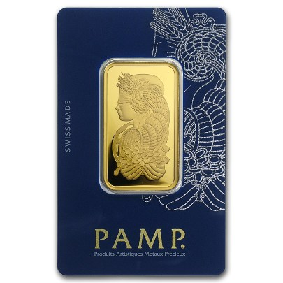 1 oz PAMP Suisse Fortuna Gold Bar
