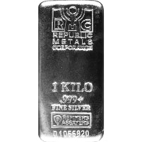 1 Kilo Republic Metals Silver Bar