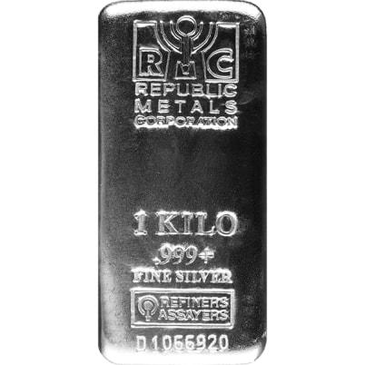 1 Kilo Republic Metals Silver Bar