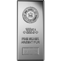 100 oz Royal Canadian Silver Bar