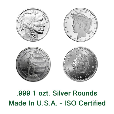 1 oz New Silver Rounds