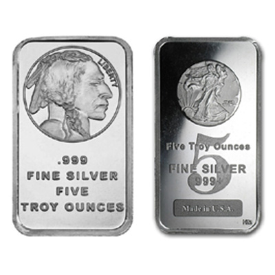 5 oz New Silver Bars