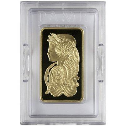 10 oz PAMP Suisse Fortuna Gold Bar Obverse