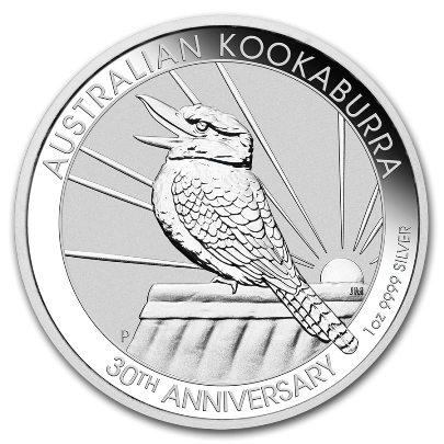2019 1 oz Australian Silver Kookaburra Obverse