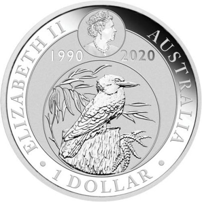 2019 1 oz Australian Silver Kookaburra Reverse