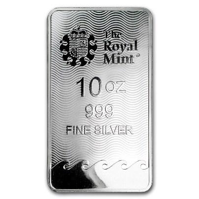 10 oz Britannia Silver Bar Reverse